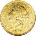 Liberty Double Eagles: , 1879-O $20 AU50 NGC. The sole Motto New Orleans double eagle issue.After closure for nearly a generation, the New Orleans ...