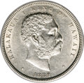 Coins of Hawaii: , 1883 50C Hawaii Half Dollar AU55 ANACS. NGC Census: (27/142). PCGSPopulation (40/203). Mintage: 700,000. (#10991)...