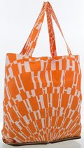 "Luxury Accessories:Bags, Hermes Noisette Vache Liegee Leather & Orange and White ""Op H,""by Bucol Archives Silky Pop Bag. ..."
