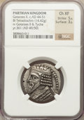 Ancients:Greek, Ancients: PARTHIAN KINGDOM. Vologases I (first reign, ca. AD50-54/5). BIL tetradrachm (14.42 gm)....