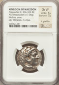 Ancients:Greek, Ancients: MACEDONIAN KINGDOM. Alexander III the Great (336-323 BC).AR tetradrachm (17.06 gm)....
