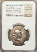 Ancients:Greek, Ancients: MACEDON. Under Roman Rule. First Meris. Ca. 167-149 BC.AR tetradrachm (16.60 gm)....