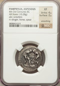 Ancients:Greek, Ancients: PAMPHYLIA. Aspendus. Ca. 325-250 BC. AR stater (10.28gm)....