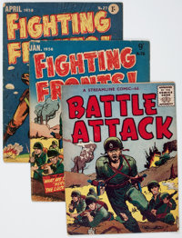 British and Australian War Comics Group (Various, 1953-56) Condition: Average GD.... (Total: 4 Comic Books)