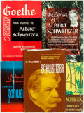 Books:Non-fiction, Albert Schweitzer. Group of Five Books by Albert Schweitzer. Various publishers and dates.... (Total: 5 Items)