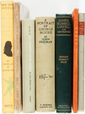 Books:Biography & Memoir, [Literature]. Group of Seven Books about Literature and LiteraryFigures. Various publishers and dates. ... (Total: 7 Items)