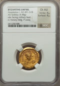 Ancients:Byzantine, Ancients: Anastasius I (AD 491-518). AV solidus (4.48 gm)....