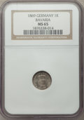 German States:Bavaria, German States: Bavaria. Ludwig II Kreuzer 1869 MS65 NGC,...