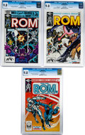 Modern Age (1980-Present):Superhero, Rom #18, 21, and 27 CGC Group (Marvel, 1981-82) CGC NM/MT 9.8 Whitepages.... (Total: 3 Comic Books)