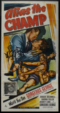 "Movie Posters:Sports, Alias the Champ (Republic, 1949). Three Sheet (41"" X 81""). Sports. ..."