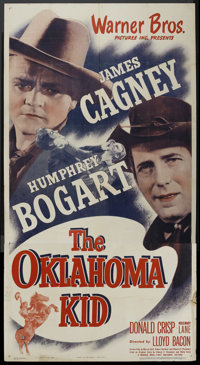 "The Oklahoma Kid (Warner Brothers, R-1940s). Three Sheet (41"" X 81""). Western"