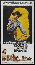 """Movie Posters:Adventure, Gold of the Seven Saints (Warner Brothers, 1961). Three Sheet (41""""X 81""""). Adventure. ..."""