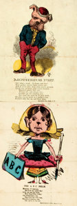 Books:Prints & Leaves, Pair of Hand-Colored Prints, The A B C Belle and Mother'sPet. New York: McLoughlin Bros., [n.d.]. Measu...