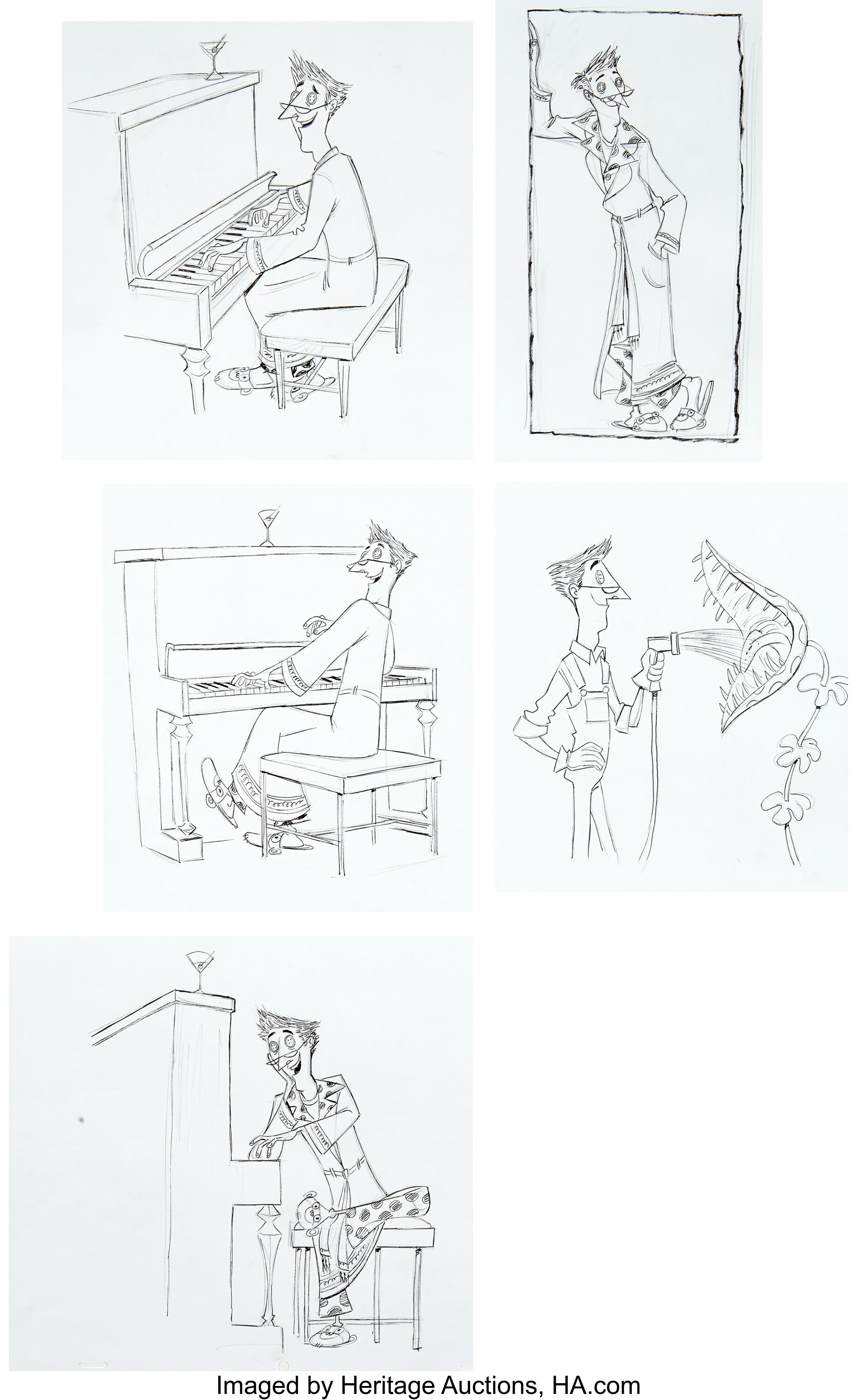 Coraline Coraline S Other Father Character Design Original Artwork Lot 94049 Heritage Auctions