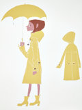 Animation Art:Production Drawing, Coraline Coraline Rainy Day Outfit Lithograph by TadahiroUesugi (LAIKA, 2009)....