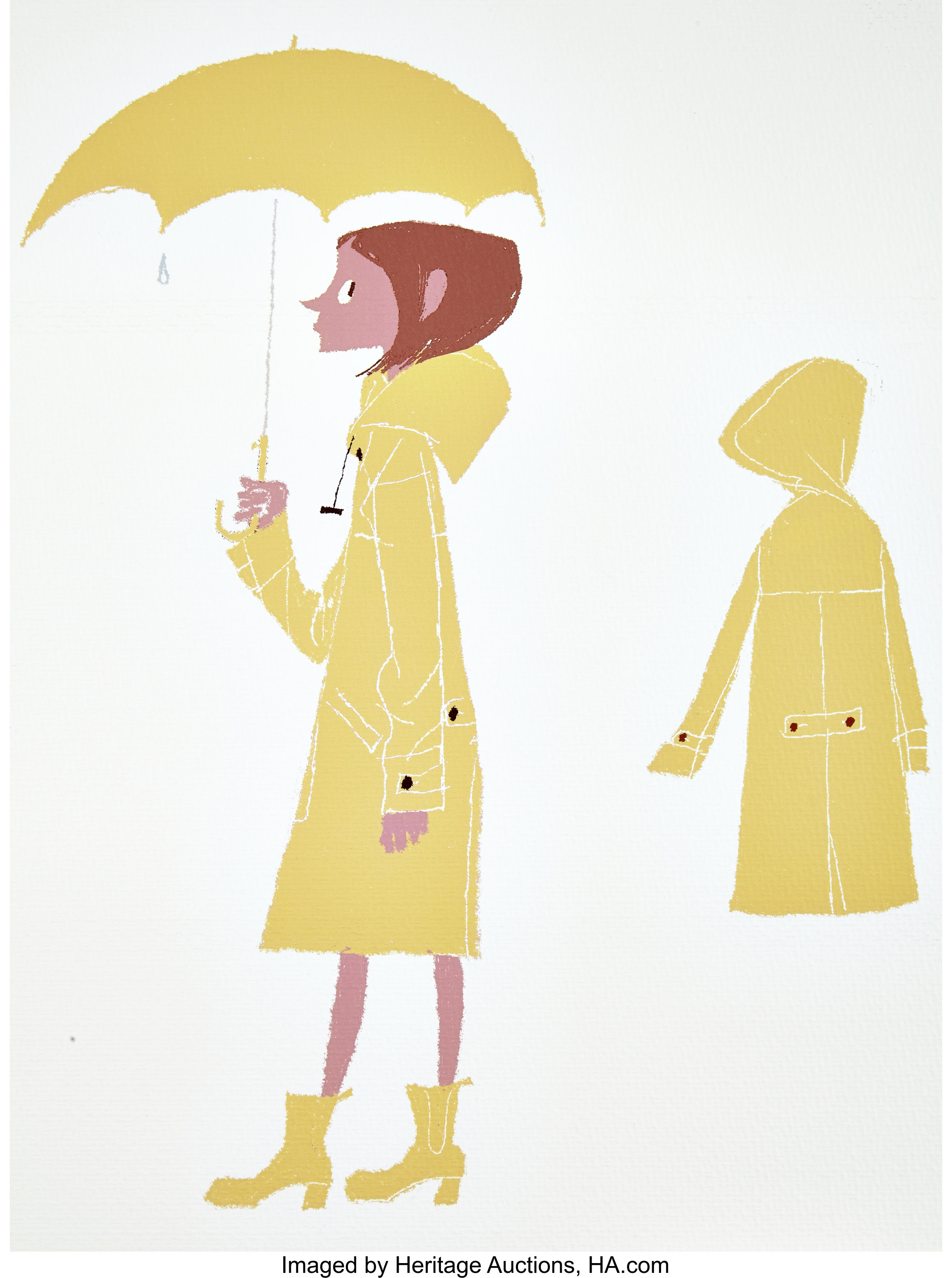 Coraline Coraline Rainy Day Outfit Lithograph By Tadahiro Uesugi Lot 94017 Heritage Auctions