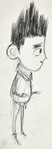 Animation Art:Production Drawing, ParaNorman Norman Concept Sketch Original Artwork Group (LAIKA, 2012).... (Total: 2 Original Art)