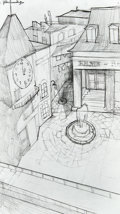Animation Art:Concept Art, The Boxtrolls Cheesebridge Concept Sketch Original Art Group(LAIKA, 2014).... (Total: 3 Items)
