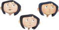 Animation Art:Maquette, Coraline Head Original Animation Paint Test Maquette Group (LAIKA, 2009).... (Total: 3 Items)