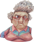 Animation Art:Maquette, ParaNorman Grandma Babcock's Head Original Animation Paint Test Maquette (LAIKA, 2012)....