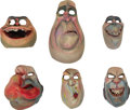 Animation Art:Maquette, The Boxtrolls Snatcher and Red Hats Original AnimationPuppet Faces Group (LAIKA, 2014).... (Total: 6 Items)
