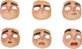 Animation Art:Maquette, ParaNorman Norman Original Animation Puppet Faces Group(LAIKA, 2012).... (Total: 6 Items)