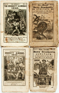 [Periodicals]. Group of Ten Issues of the Crockett Almanac. Various publishers and d