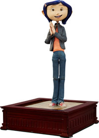 Coraline In Jeans And Orange Striped Shirt Original