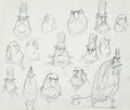 Animation Art:Production Drawing, The Boxtrolls Snatcher Model Sheet Original Art (LAIKA,2014)....