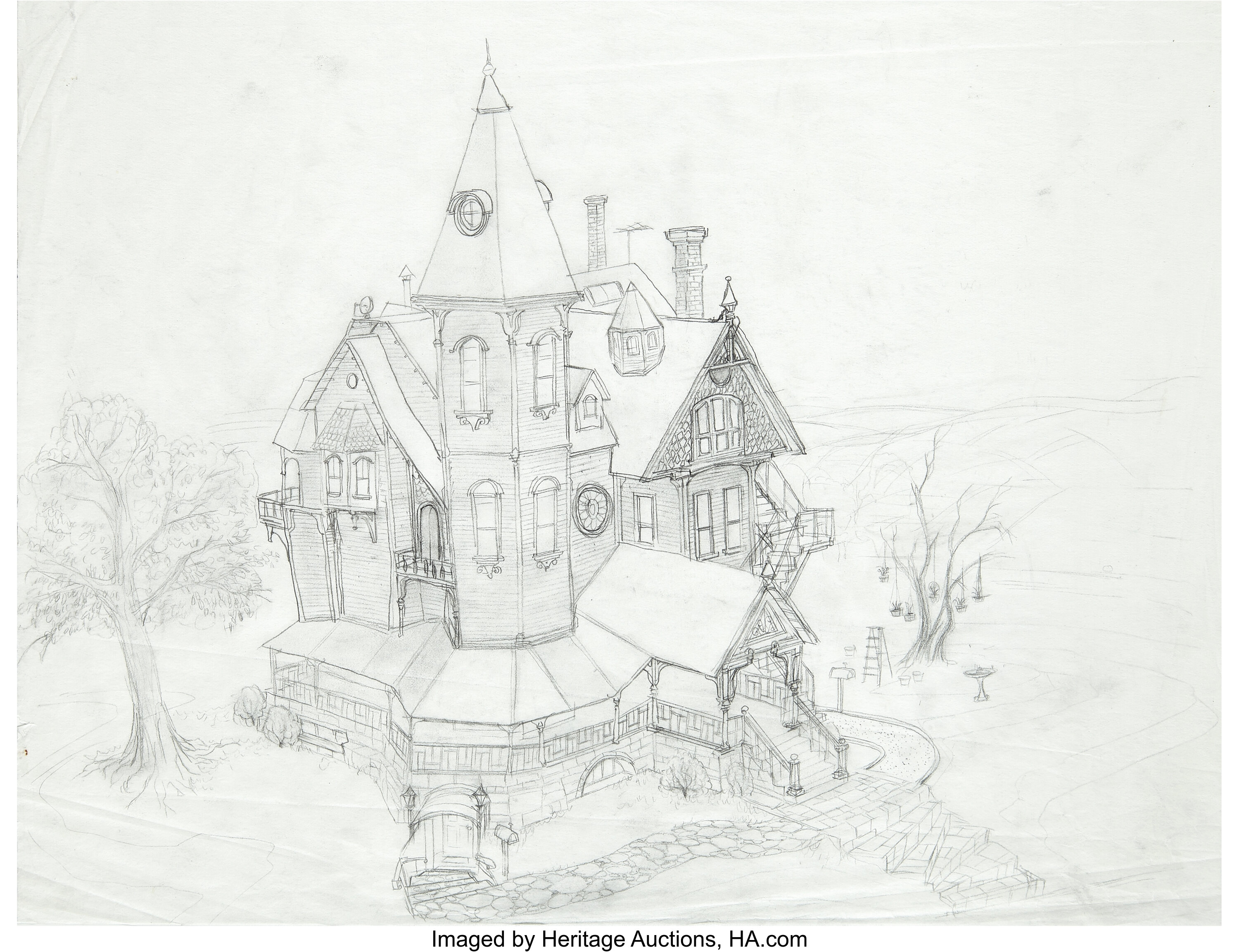 Coraline Pink Palace Apartments Concept Original Artwork Laika Lot 94071 Heritage Auctions