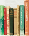 Books:Biography & Memoir, [Albert Schweitzer]. Group of Eight Books by or about AlbertSchweitzer. Various publishers and dates. ... (Total: 8 Items)