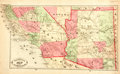 Books:Maps & Atlases, [Maps]. Hand-Colored Map of Southern California and Arizona. [N.p., n.d., circa 1882]. ...