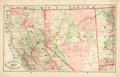 Books:Maps & Atlases, [Maps]. Hand-Colored Map of Northern California and Nevada. [N.p., n.d., circa 1882]. ...