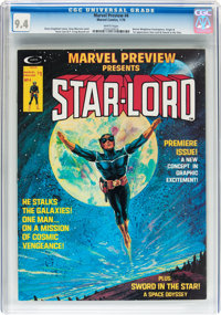 Marvel Preview #4 Star-Lord (Marvel, 1976) CGC NM 9.4 White pages