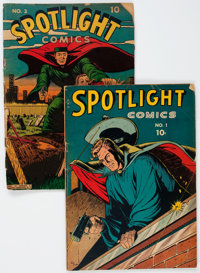 Spotlight Comics #1 and 3 Group (Chesler, 1944-45).... (Total: 2 Comic Books)