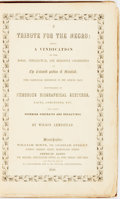Books:World History, [Anti-Slavery]. Wilson Armistead. A Tribute for the Negro.Manchester: William Irvin, 1848. ...