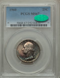 Washington Quarters, 1960 25C MS67 PCGS. CAC....