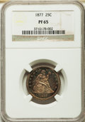 Proof Seated Quarters, 1877 25C PR65 NGC....
