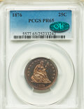 Proof Seated Quarters, 1876 25C PR65 PCGS. CAC....