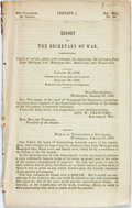 Books:Americana & American History, Michigan: REPORT OF THE SECRETARY OF WAR, COMMUNICATING COPIES OFREPORTS, PLANS, AND ESTIMATES FOR IMPROVING THE ENTRANCES ...