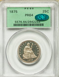 Proof Seated Quarters, 1875 25C PR64 PCGS. CAC....