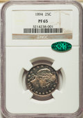 Proof Barber Quarters, 1894 25C PR65 NGC. CAC....