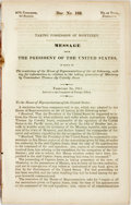 Books:Americana & American History, Mexico: TAKING POSSESSION OF MONTEREY. MESSAGE FROM THEPRESIDENT...IN RELATION TO THE TAKING POSSESSION OF MONTEREY BYCOMM...