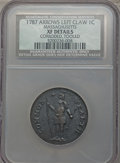 1787 1C Massachusetts Cent, Arrows in Left Talon -- Corroded, Tooled -- NCS. XF Details. NGC Census: (7/35). PCGS Popula...