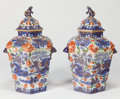 Asian:Chinese, A PAIR OF CHINESE IMARI PORCELAIN CENSOR JARS. 24 inches high (61.0cm). ... (Total: 2 Items)