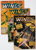 Golden Age (1938-1955):War, Wings Comics Group (Fiction House, 1943-47) Condition: AverageFN-.... (Total: 6 Comic Books)