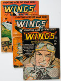 Golden Age (1938-1955):War, Wings Comics Group (Fiction House, 1942-47) Condition: AverageGD/VG.... (Total: 7 Comic Books)