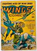 Golden Age (1938-1955):War, Wings Comics #21 (Fiction House, 1942) Condition: GD....