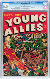 Young Allies Comics #11 (Timely, 1944) CGC FN+ 6.5 Light tan to off-white pages