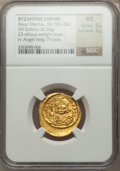 Ancients:Byzantine, Ancients: Maurice Tiberius (AD 582-602). AV light-weight solidus(4.26 gm)....